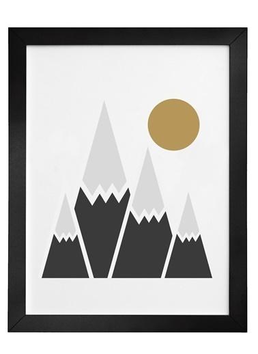 Nordbagen Winter Sun Poster Siyah